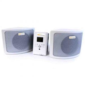 Paquete De Audio Amplificador Con Dos Bocinas 30 W