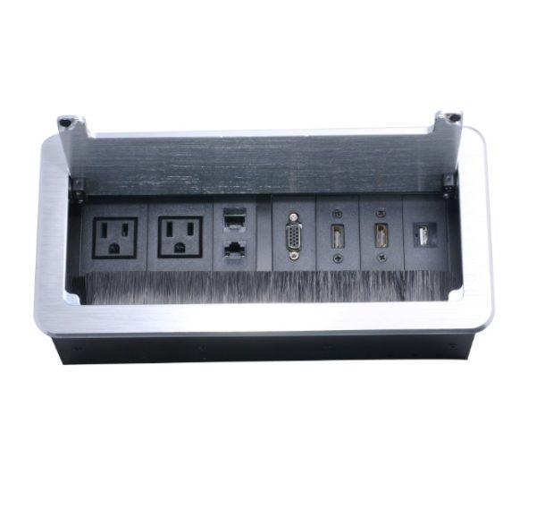 caja de conectividad para mesa de juntas