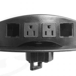 panel de conectores para escritorio